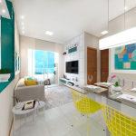 3D Sala Jantar/Estar 2